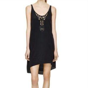 "Wilfred ""Lazare"" 100%Silk Embroidered Dress"